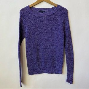 American Eagle Cable Knit Purple Pullover Sweater